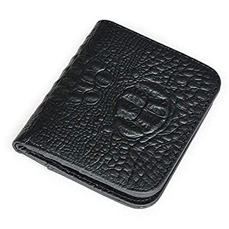 6e8ea1216b1a Image Unavailable. Image not available for. Color  Tanchen Men Genuine Leather  Crocodile Pattern Personalized Wallet Double Fold Card Holder