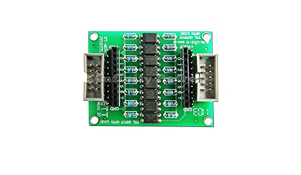 8 Channels Logic Shift between 3 and 5 Volts PC817 Opto Coupler TTL INBOARD