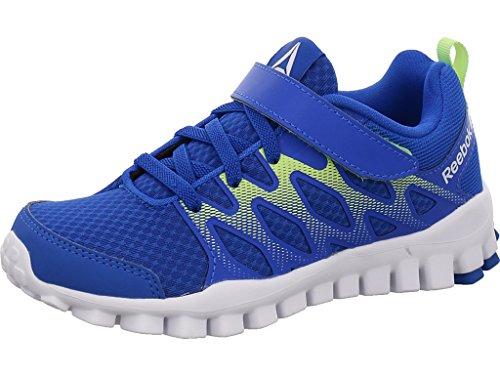 Reebok Realflex Train 4.0 Alt, Zapatillas de Gimnasia Unisex Niños Azul (Vital Blue / Electric Flash / White)