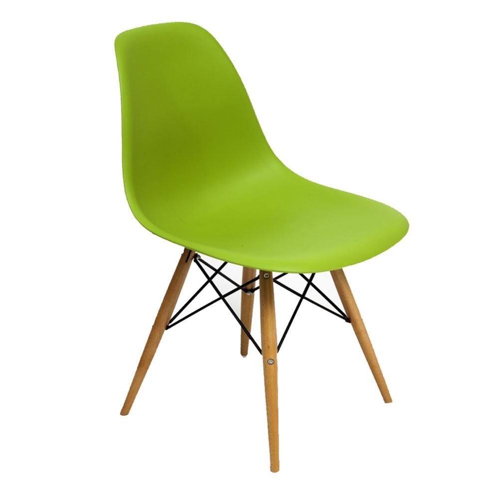 BRAVICH BLUE COMO Eiffel Dining Chair Plastic Wooden Leg Retro Lounge Chairs Modern Furniture Office Desk