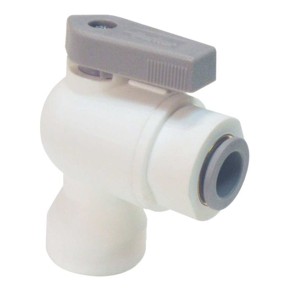Parker LFPP6VFE2-pk10 Ball Valve Push-to-Connect 90 Degree Elbow Pack of 10 3//8 Polypropylene Ball Valve Type Pack of 10 3//8 Tube to Female Pipe