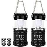 Gold Armour Camping Lantern - LED Lantern Camping Gear Equipment Camping Lights Flashlights for Outdoor, Hiking, Emergencies, Hurricanes, Outages (Black CL15)