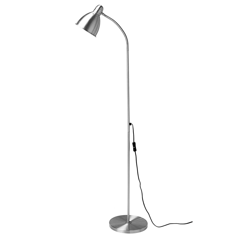 Ikea Fusion-Silver Kea - Lámpara de pie elegante, color ...