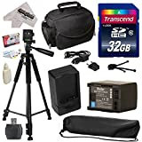 Must Have Accessory Kit for Canon HF S10 S11 S20 S21 S30 G10 G20 S100 M30 M31 M32 M40 M41 M300 M400 XA10, HF10, HF11, HF20, HF100, HF200, HG20, HG21, HG30, HFS10, HFS11, HFS20, HFS21, HFS30, HFG10, HFG20, HFS100, HFM30, HFM31, HFM32, HFM40, HFM41, HFM300, HFM400 Video Camera Camcorder Includes - 32GB High-Speed SDHC Card + Card Reader + Vivitar 2000 mAh Replacement Battery for Canon BP819 BP-819 + AC/DC Rapid Battery Charger + Deluxe Padded Carrying Case + Professional 60