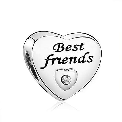 Charm for Bracelets Pandora Charms Golden Heart Alphabet Dangle Beads for  Bracelets & Necklaces-Best Friend