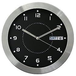 Equity by La Crosse 87784 11 Inch Day & Date Metal Clock