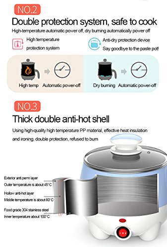 83b3eb3e8416 1.2L LIVEN Electric Hot Pot with 304 Stainless Steel Inside - Import It All