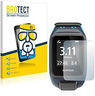 BROTECT Protector Pantalla Cristal para Tomtom Runner 2 - Cristal Vidrio 9H, AirGlass