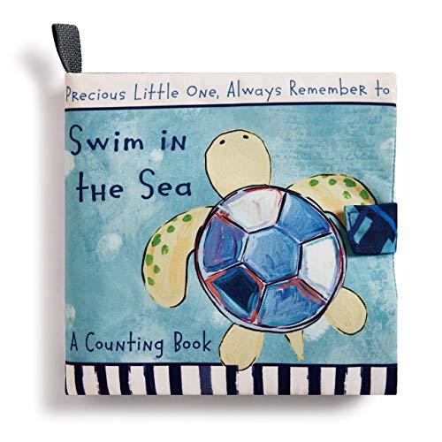 DEMDACO Swim in The Sea Turtle Children's Plush Soft Page Activity Book -