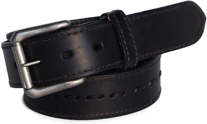 """BULLCO RGB-4452 1-3//4/"""" Black Full Grain Leather Belt Size 40 R.G"""
