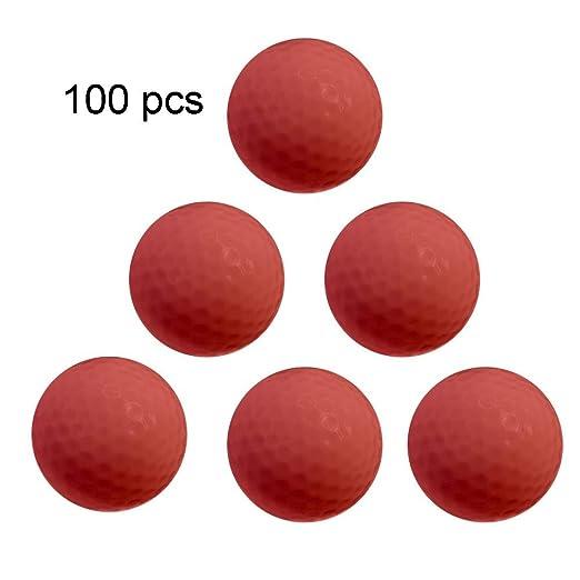 Pelotas de golf de calidad 100 piezas de goma sintética de golf de ...
