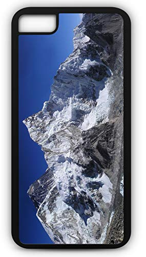 (iPhone 8 Plus 8+ Case Mount Everest Himalayas Summit Base Camp Sherpa Mountain Climber Customizable by TYD Designs in Black Plastic Black Rubber Tough Case)