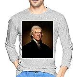 Best Thomas & Friends Friend Shirts Long Sleeves - Mens Cotton Print Gray T Shirts Thomas Jefferson Review