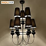 BGmdjcf Italy Spain After The Neo-Classical Modern Light Living Room 9 Villas Head Led Defenders Chandeliers , Silver200