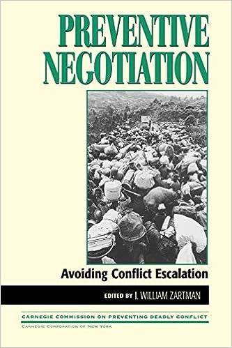 Avoiding Conflict Escalation Preventive Negotiation