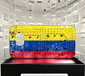 Funda Carcasa para Galaxy S6 Edge Bandera COLOMBIA 06