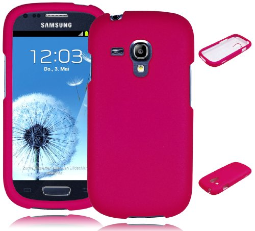 Galaxy S3 Phone Case, Bastex Rubberized Hot Pink Snap On Case Cover for Samsung Galaxy S3 i9300