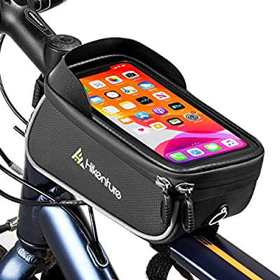 Mountain Bike Touch Screen Front Handlebar Bag Phone Holders Pouch Waterproof