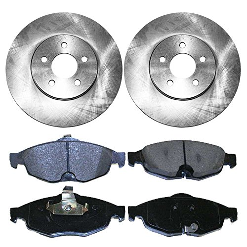 Prime Choice Auto Parts RSMK6383-6383-869-2-4 4 Front Semi Metallic Brake Pads and 2 Brake Rotors