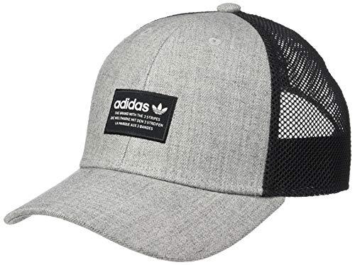 adidas Men's Originals Trefoil Trucker Cap, Heather Grey/Black/White, One Size