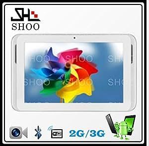 ARBUYSHOP Nuevo, construido en 3G 7 pulgadas MTK6572 de la tableta de doble núcleo de 1.2GHz Android 4.2 llamada de teléfono de Bluetooth GPS de doble cámara de la tableta con la tarjeta Sim, Añadir estuche de cuero