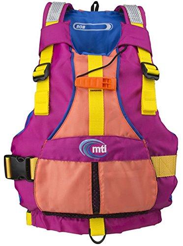 MTI Adventurewear Youth Girls Bob Life Jacket, 50-90 lb, Berry/Coral