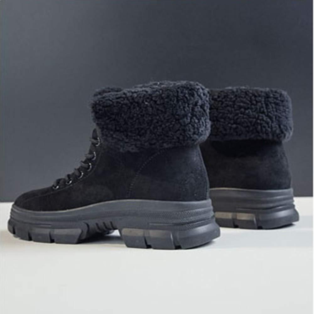 QLG Stivali Da Donna Donna Inverno Inverno Inverno Ankle Snow stivali Donna   Warmer Spessore Outdoor Warm Fashion Short Tube Martin Stivali Scarpe, 37.5 e0489b