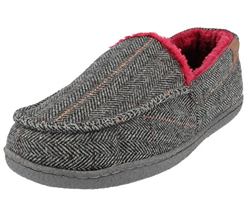 Fodera Mocassino Tweed Joe Grey Jo In Uomo A Eleganti Da Pile tweed Finto Pantofole amp; Camoscio HcFOf