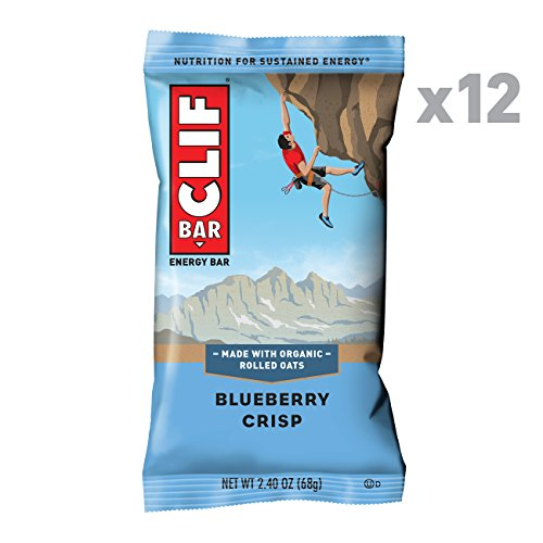 CLIF BAR - Energy Bar - Blueberry Crisp (2.4 Ounce Protein Bar, 12 Count)
