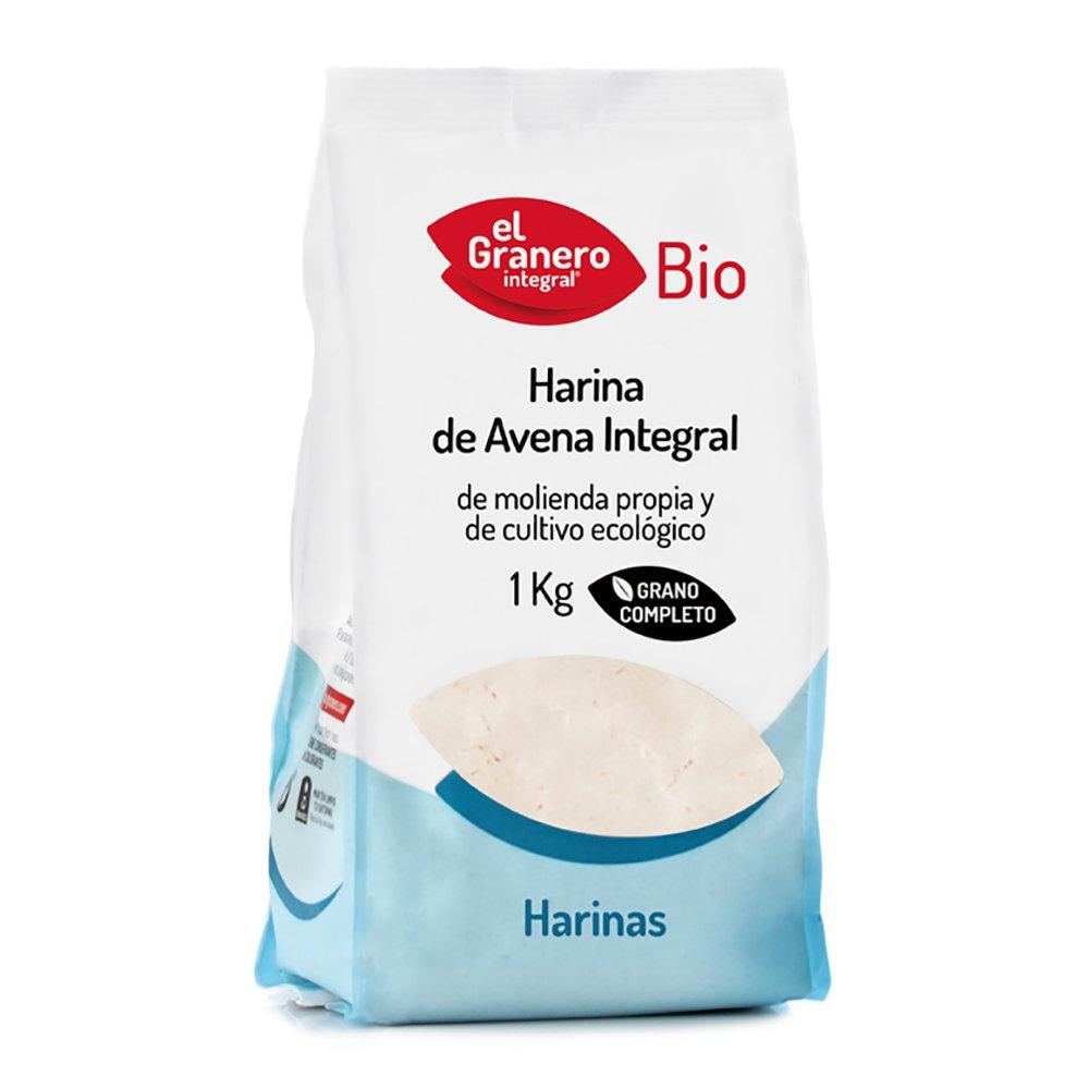 El Granero Integral Harina de Avena Bio - 1000 gr: Amazon.es: Alimentación y bebidas