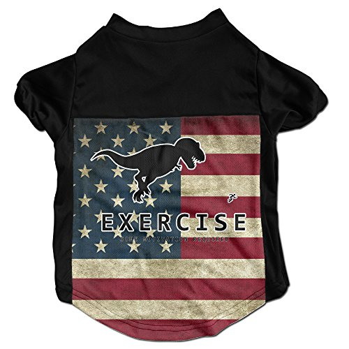 T Rex Cat Costume (Funny Sport Trex Human Costumes, Clothing, Shirt, Vest, T-shirt, Puppy Pet Dog Cat Fashion 100% Polyester Fiber Tee Gift For Any Animal Fan Lovers Black Medium)