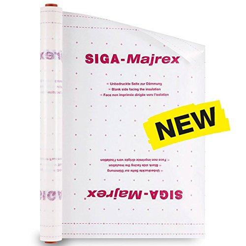 Siga Majrex 1,5m x 50m Hygrobrid-Dampfbremse Dampfbremse  Rolle 75 m²