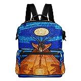 DJROW Africa Artwork Backpack for Men Women & Girls Boys Casual Book Bag Sports Daypack