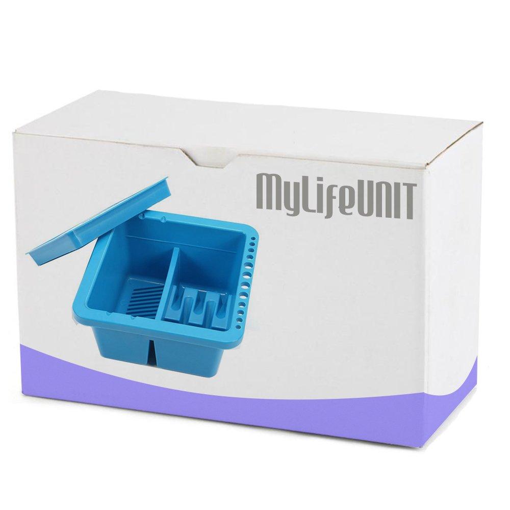 MyLifeUNIT Artist Brush Basin, Multifunction Paint Brush Tub with ...
