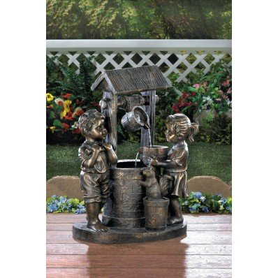 Wishing Well Fountain Indoor and Outdoor Fountains Water Fountain Garden Fountain