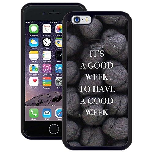 Gute Woche   Handgefertigt   iPhone 6 6s (4,7')   Schwarze Hülle