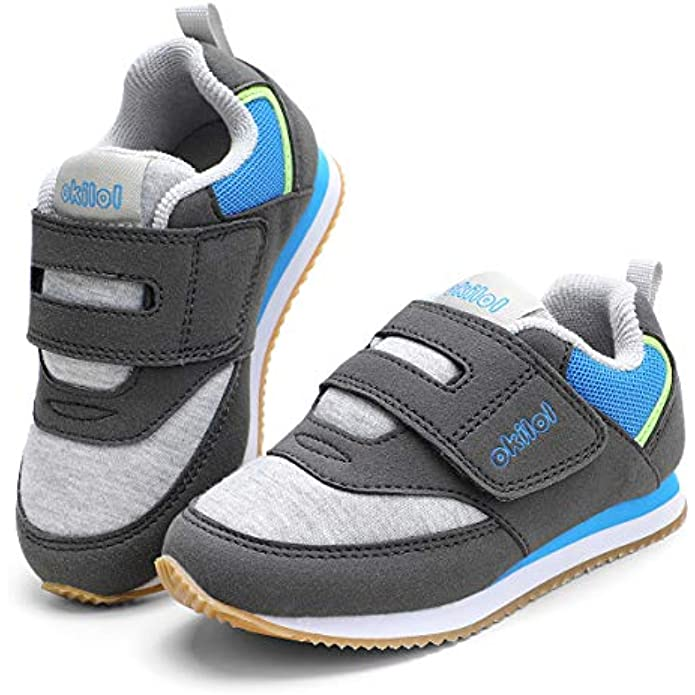 okilol Toddler Shoes, Boys & Girls Comfort Retro Sneaker, Kids Tennis Shoes for Comfort Walk, Playground Fun, School