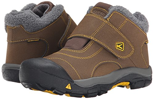 KEEN Kootenay Waterproof Winter Boot (Little Kid/Big Kid), Dark Earth/Spectra Yellow, 4 M US Big Kid by KEEN (Image #6)