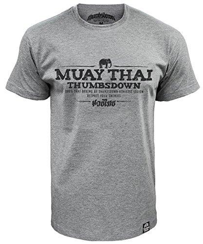 Muay Thai Boxeo Atlético Legion Camiseta - algodón, gris, 100% algodón, Hombres