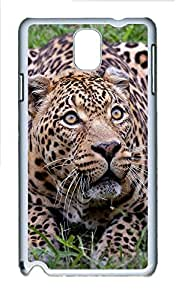 Samsung Note 3 Case Spotted Cheetah PC Custom Samsung Note 3 Case Cover White