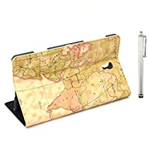 Apexel PU Leather Bible Book Case with Touch Pen for Samsung Galaxy Tab S 8.4, Yellow (T700-9-YEL)