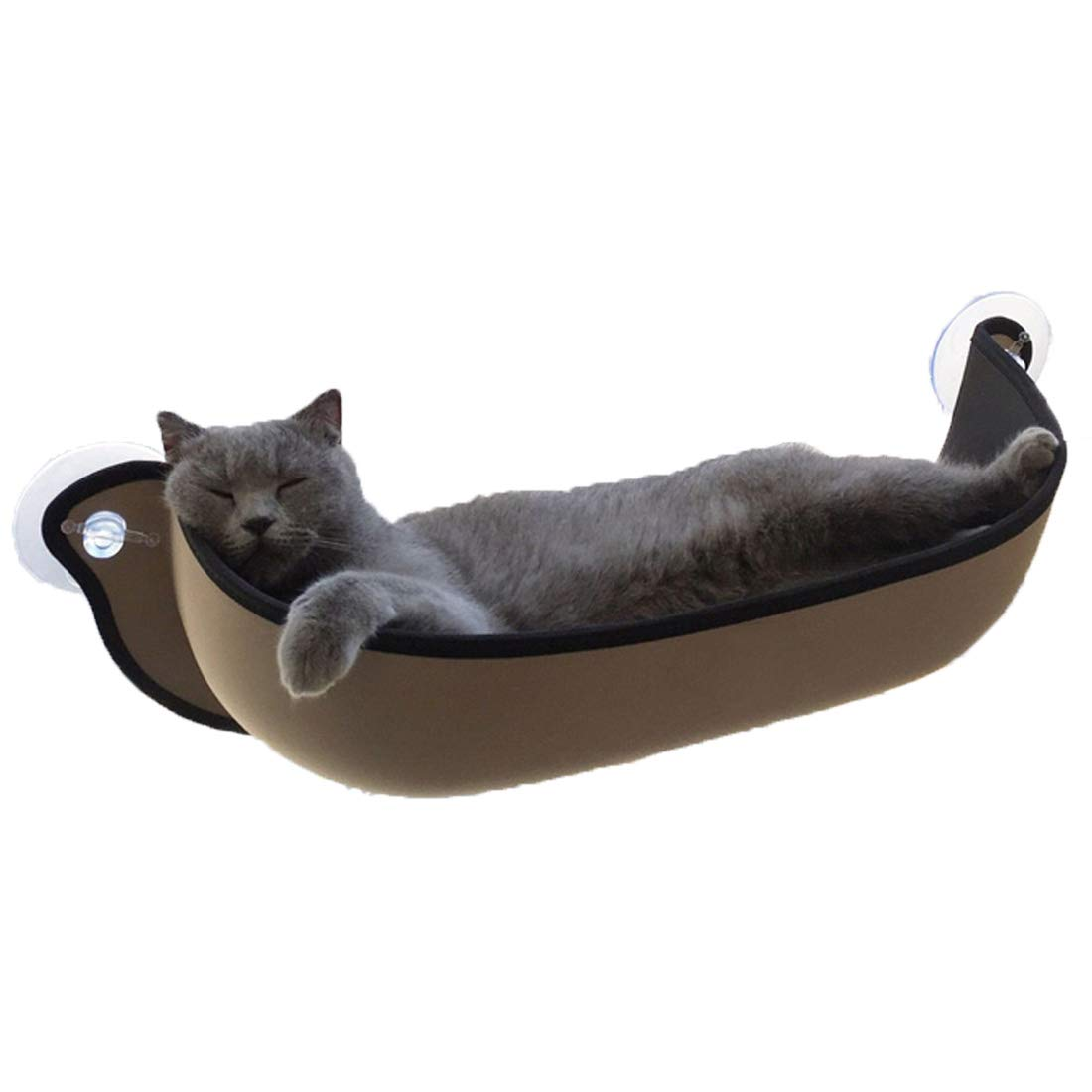 A Cat Window Perch Cat Window Bed Cat Hammock Window Pet Sunny Seat Window-Mounted Cat Bed High-End Decoration Hanging Nest Pets Cat Climbing Frame Sunbathing + Daydreaming 68×28CM Can Bear 20KG