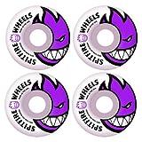 Spitfire Bighead 54mm White W/Purple Skateboard Wheels (Set of 4)