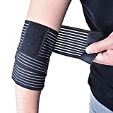 Vi 37 Inch Ankle Brace Wrist Support Wrap, High Elastic Adjustable Elbow Brace Compression Bandage with Velcro