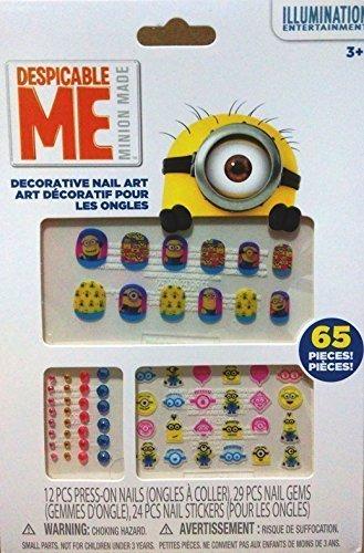 Dispicable Me Disney (CJB Dispicable Me Decorative Nail Art Sticker 24 Pieces (US Seller))