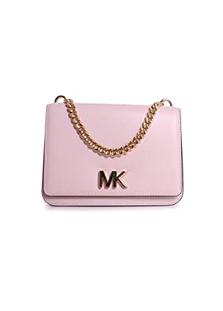 fdc952e3c684 Michael Michael Kors Mott Leather Large Chain Swag Shoulder Bag in Soft  Pink: Amazon.co.uk: Clothing
