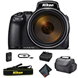 Nikon COOLPIX P1000 16.7 Digital Camera with 3.2' LCD, Black - Bundle Kit with Carrying Case + More - International Model