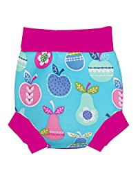 Homyl Swim Nappy Baby Kids Reusable Washable Swimwear Swimsuit Nappy and Shorts - Fruit, 18-24M