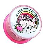 8 ga plugs - Rainbow Unicorn Single Flared Ear Gauge Plug - 0 GA (8mm) - Sold as a Pair