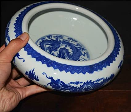 Amazon Chinese Blue And White Porcelain Pot Plate Bowl Dragon